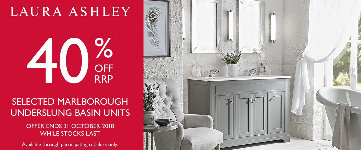 40% off Laura Ashley Bathrooms