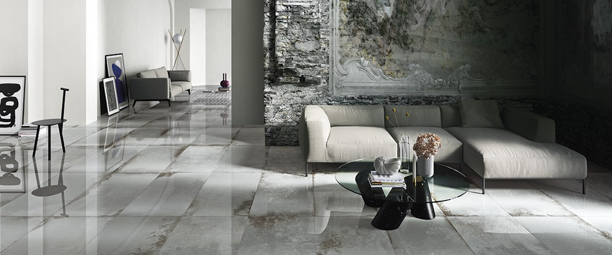 Narciso antique mirror effect tile