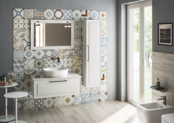 Bon Ton Blue vintage style tile