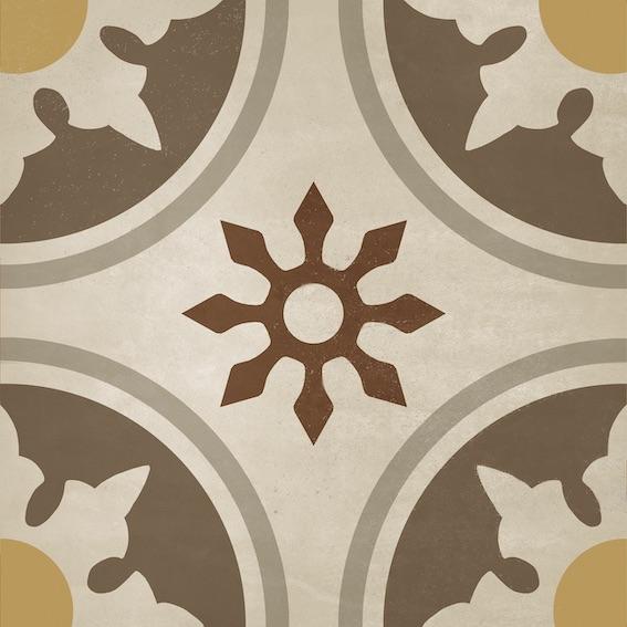 Bon Ton Flor vintage style tile