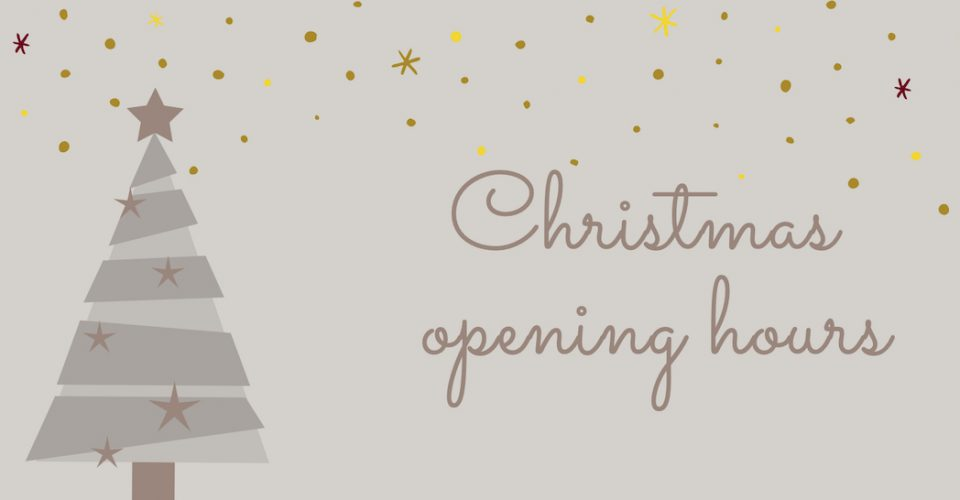 Devom Tiles Christmas opening hours