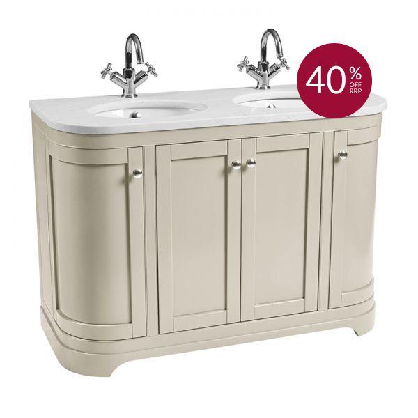 Marlborough 1200 curved double basin unit